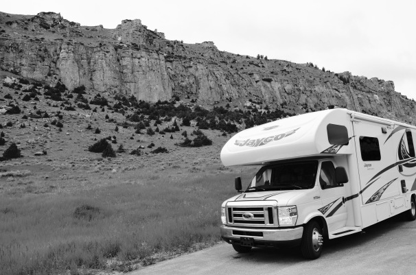 Home on wheels in the Badlands National Park